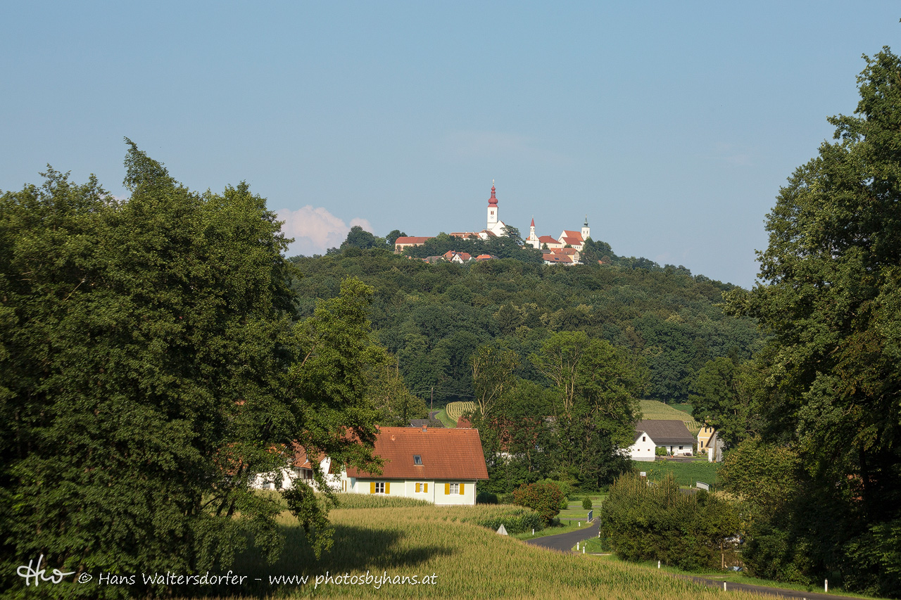 Blick über Kronnersdorf nach Straden