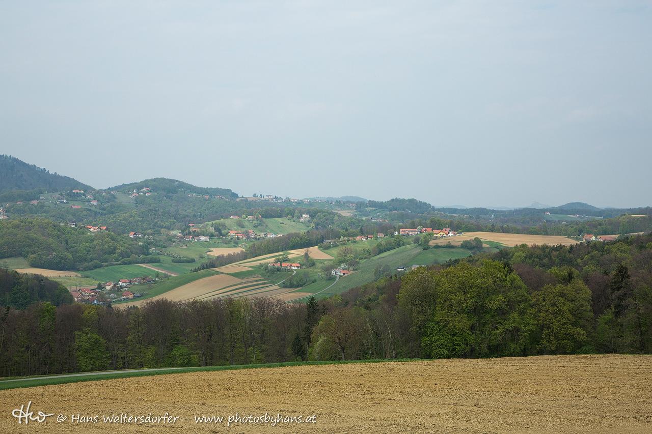 Blick von Jammberg auf Kohleiten, Galgegg (re) und Böckl (li)